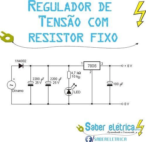 Aprenda Como Regular Tensão com Resistor Fixo
